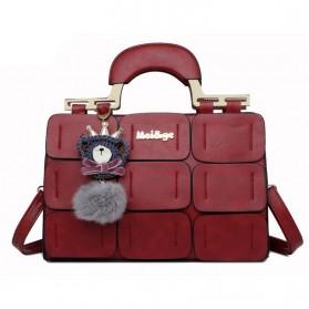 Mei&ge Tas Selempang Handbag Wanita Casual - Red