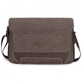 POLO Tas Selempang Pria Model Wide Small - Brown