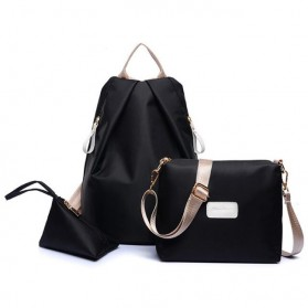 Jingpinpiju Tas Fashion Wanita 3 in 1 - Black