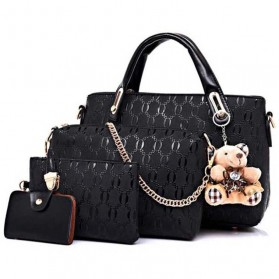 Tas Fashion Wanita Bag in Bag 4 in 1 - Black
