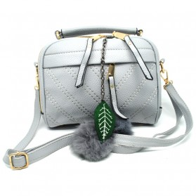 Tas Selempang Wanita Hair Ball Ornament - Gray