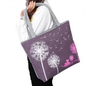Tas Tote Wanita Flowers - Purple