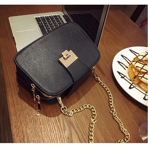 Tas Selempang Handbag Wanita Tali Rantai - Black - JakartaNotebook.com 0fadae08ad