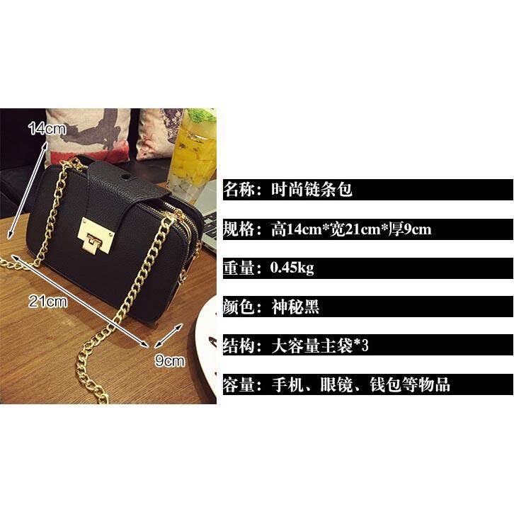 Tas Selempang Handbag Wanita Tali Rantai - Black - JakartaNotebook.com c649935d18