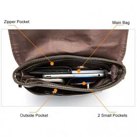 Tas Selempang Crossbody Messenger Bag Pria - 8006 - Black - 3