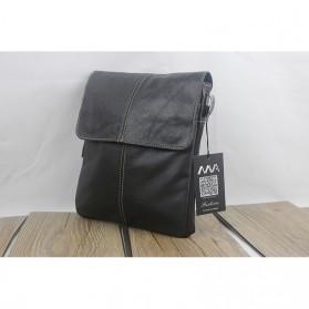 Tas Selempang Crossbody Messenger Bag Pria - 8006 - Black - 7
