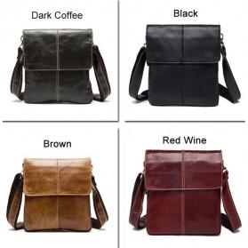 Tas Selempang Crossbody Messenger Bag Pria - 8006 - Black - 8