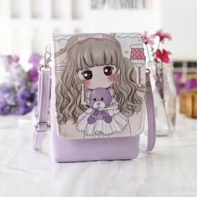 Tas Selempang Mini Girl Cartoon Bag - Purple