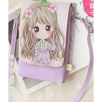 ... Tas Selempang Mini Girl Cartoon Bag - Light Purple - 1 ...