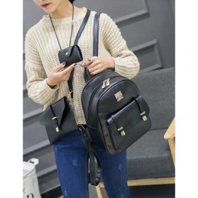 Tas Fashion Wanita Cute 3 in 1 - Black