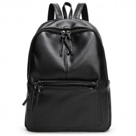 Rhodey Tas Ransel Wanita PU Leather - AH-B1361 - Black