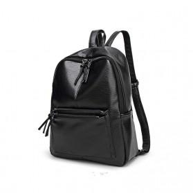 Rhodey Tas Ransel Wanita PU Leather - AH-B1361 - Black - 2