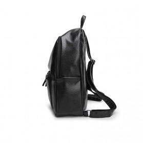 Rhodey Tas Ransel Wanita PU Leather - AH-B1361 - Black - 3