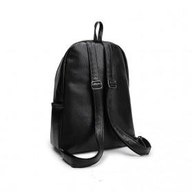 Rhodey Tas Ransel Wanita PU Leather - AH-B1361 - Black - 4