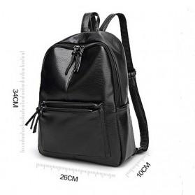 Rhodey Tas Ransel Wanita PU Leather - AH-B1361 - Black - 5