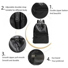 Rhodey Tas Ransel Wanita PU Leather - AH-B1361 - Black - 9