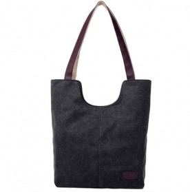 Tas Tote Bag Wanita Canvas - Black