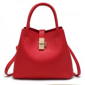 Tas Selempang Wanita Large Bucket - Red