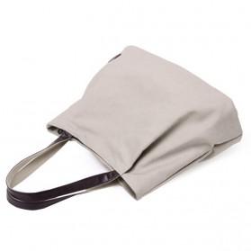 Dxyizu Tas Tote Bag Wanita Retro Canvas - Gray - 2