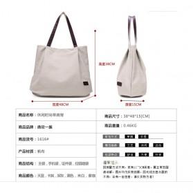Dxyizu Tas Tote Bag Wanita Retro Canvas - Gray - 4