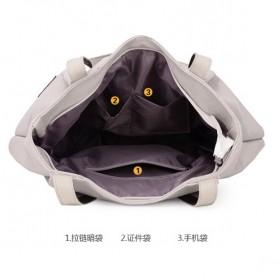 Dxyizu Tas Tote Bag Wanita Retro Canvas - Gray - 5