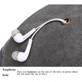 Tas Ransel Kanvas dengan USB Charger Port - Khaki - 7