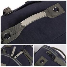 Tas Ransel Duffel Travel dengan USB Charger Port - Black Blue - 3