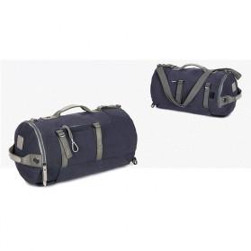 Tas Ransel Duffel Travel dengan USB Charger Port - Black Blue - 5