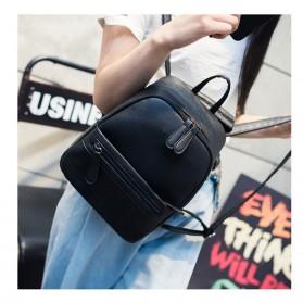 Tas Ransel Wanita Casual PU Leather - Black - 6