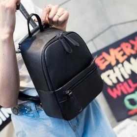 Tas Ransel Wanita Casual PU Leather - Black - 7