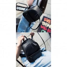 Tas Ransel Wanita Casual PU Leather - Black - 8