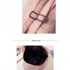 Tas Ransel Wanita Casual PU Leather - Black - 10