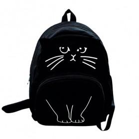 Tas Ransel Wanita Model Kucing 3D - Black
