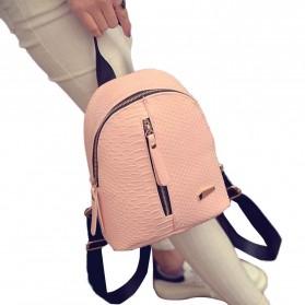 Tas Ransel Mini Korea untuk Wanita - Pink - 4