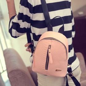 Tas Ransel Mini Korea untuk Wanita - Pink - 5