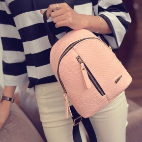 Tas Ransel Mini Korea untuk Wanita - Pink - 6