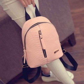 Tas Ransel Mini Korea untuk Wanita - Pink - 8