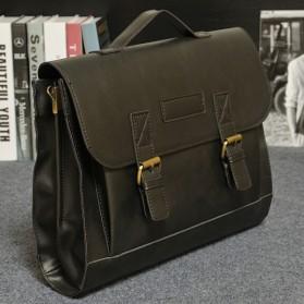 Tas Selempang Pria Vintage Messenger Bag - Black