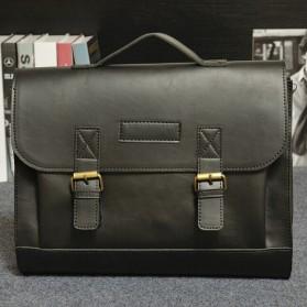 Tas Selempang Pria Vintage Messenger Bag - Black - 2