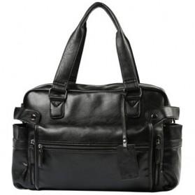 Tas Jinjing Wanita Vintage Leather Bag - Black