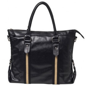 Tas Selempang Kulit Pria Leather Retro Bag - Black