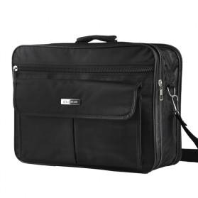 Tas Jinjing Laptop Kantor Pria 17 inch - 6612 - Black - 2