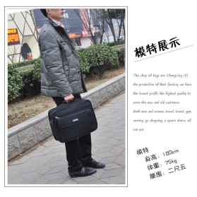 Tas Jinjing Laptop Kantor Pria 17 inch - 6612 - Black - 5