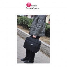 Tas Jinjing Laptop Kantor Pria 17 inch - 6612 - Black - 6