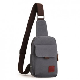 Muzee Tas Selempang Sling Bag Kasual Canvas - ME-1427 - Gray