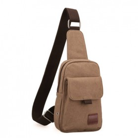 Muzee Tas Selempang Sling Bag Kasual Canvas - ME-1427 - Coffee