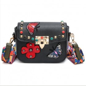 Tas Selempang Wanita Luxury Handbag - SABED1866 - Black - 1