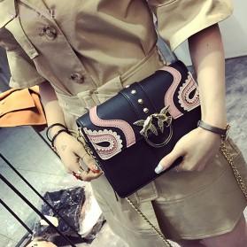 Tas Selempang Wanita Rivet Style Handbag - SAJSWG79953 - Pink - 5