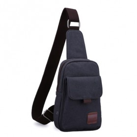 Muzee Tas Selempang Canvas - ME-1427 - Blue/Black