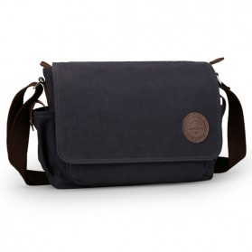 MUZEE Tas Selempang Kanvas Messenger Bag - ME-8899D - Black